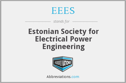 EEES - Estonian Society for Electrical Power Engineering