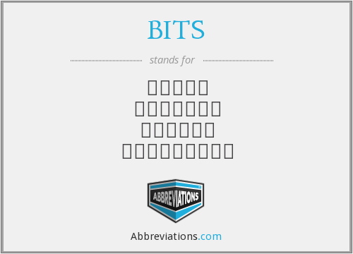 What does BITS stand for?