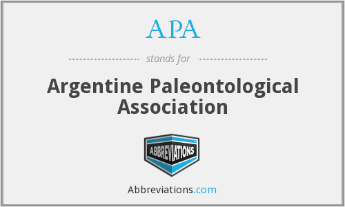 APA - Argentine Paleontological Association