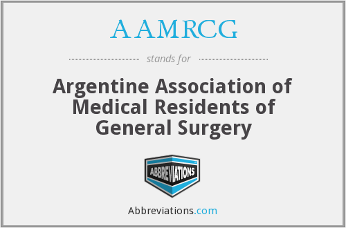 What does AAMRCG stand for?