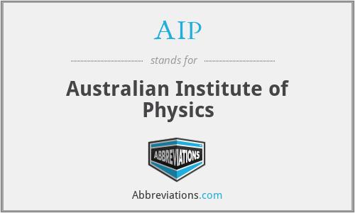 AIP - Australian Institute of Physics