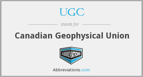 UGC - Canadian Geophysical Union