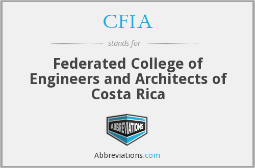 CFIA - Federated College of Engineers and Architects of Costa Rica
