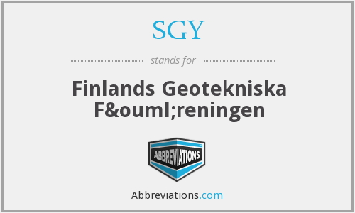 What does SGY stand for?