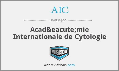 AIC - Académie Internationale de Cytologie