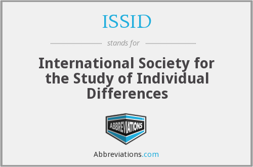 What does ISSID stand for?