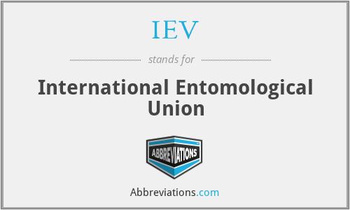 IEV - International Entomological Union