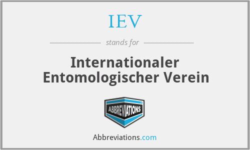 IEV - Internationaler Entomologischer Verein