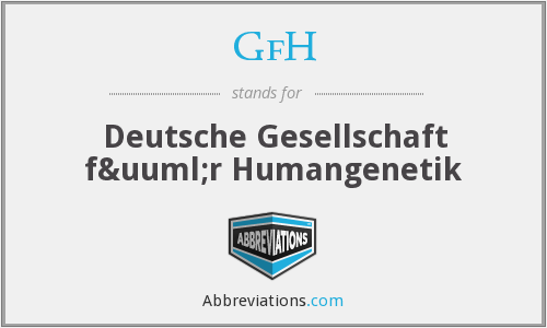 What does GFH stand for?