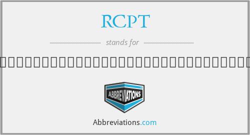 RCPT - ราชวิทยาลัยจิตแพทย์แห่งประเทศไทย