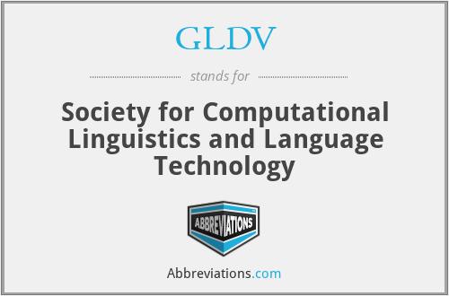 GLDV - Society for Computational Linguistics and Language Technology