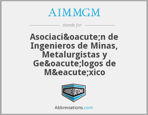 What does AIMMGM stand for?