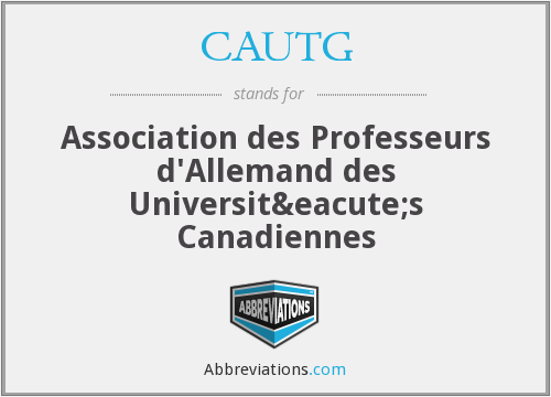 What does CAUTG stand for?