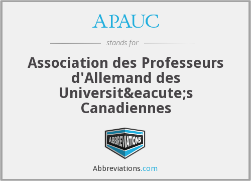 What does APAUC stand for?