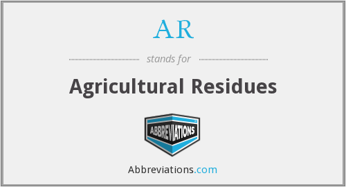 AR - Agricultural Residues