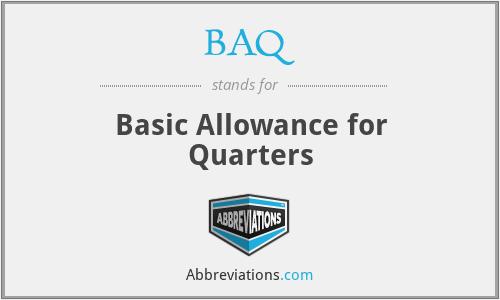BAQ - Basic Allowance for Quarters