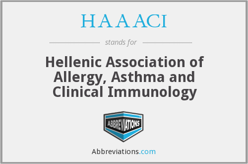 HAAACI - Hellenic Association of Allergy, Asthma and Clinical Immunology