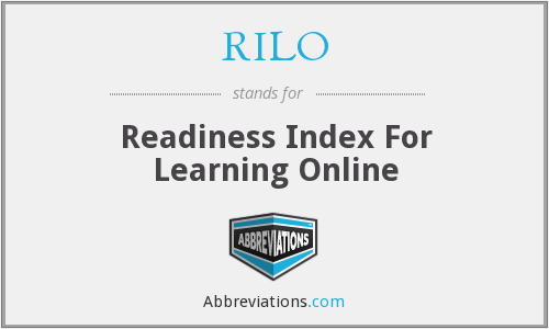 What does RILO stand for?