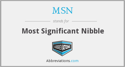 MSN - Most Significant Nibble