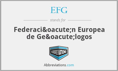 EFG - Federación Europea de Geólogos