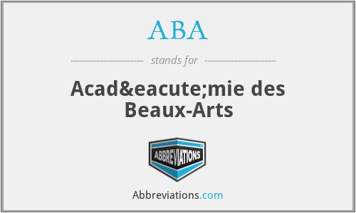 ABA - Académie des Beaux-Arts