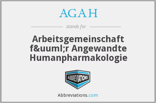 What does AGAH stand for?