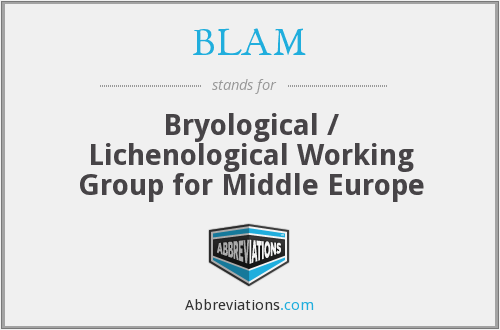 BLAM - Bryological / Lichenological Working Group for Middle Europe
