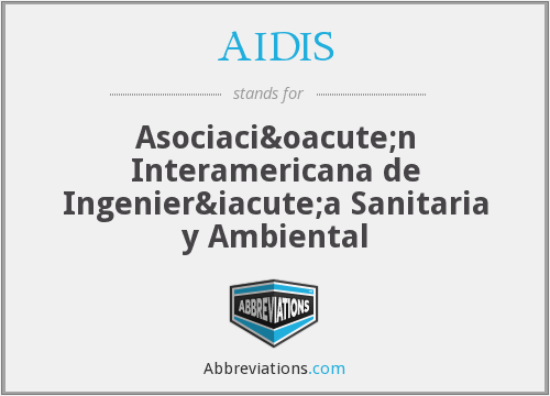 What does AIDIS stand for?