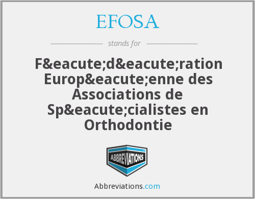What does EFOSA stand for?