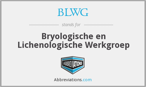 What does BLWG stand for?