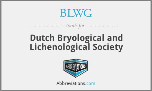 BLWG - Dutch Bryological and Lichenological Society