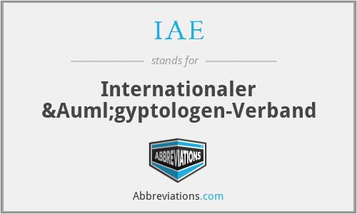IAE - Internationaler Ägyptologen-Verband