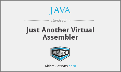 JAVA - Just Another Virtual Assembler