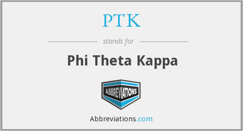 What does PTK stand for?