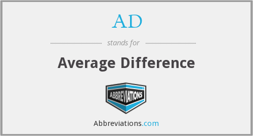 AD - Average Difference