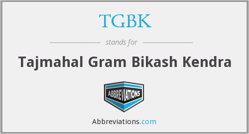 What does TGBK stand for?