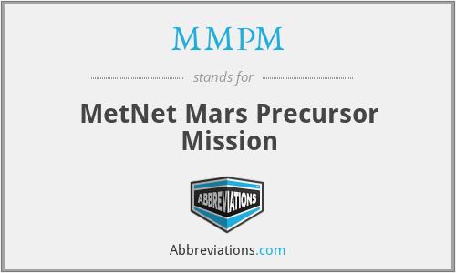 MMPM - MetNet Mars Precursor Mission