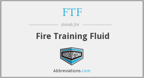 FTF - Fire Training Fluid