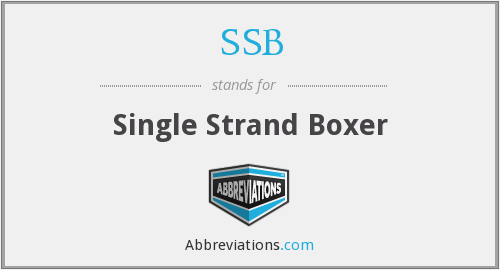 SSB - Single Strand Boxer