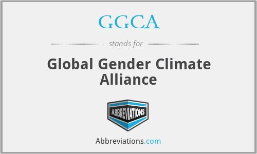 GGCA - Global Gender Climate Alliance