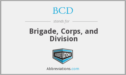 BCD - Brigade, Corps, and Division