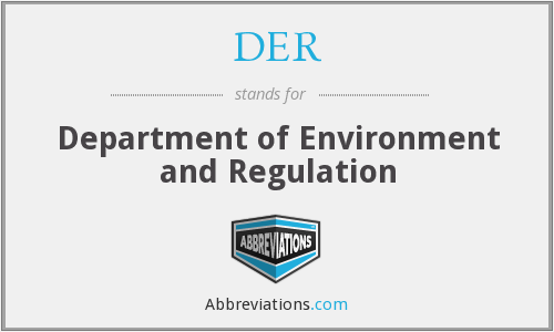 DER - Department of Environment and Regulation