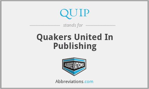 QUIP - Quakers United In Publishing