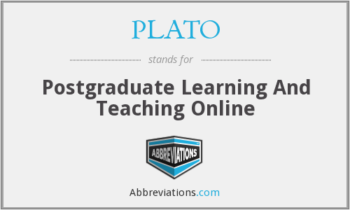 PLATO - Postgraduate Learning And Teaching Online