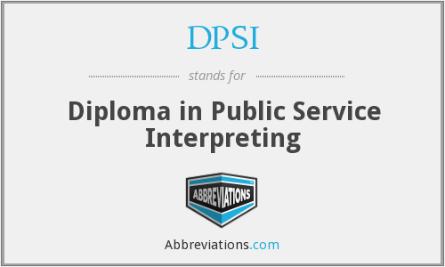 What does DPSI stand for?