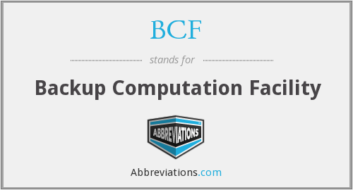 BCF - Backup Computation Facility