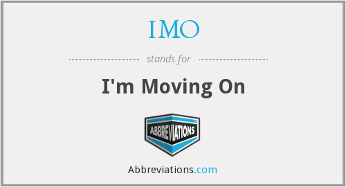 What does IMO stand for?