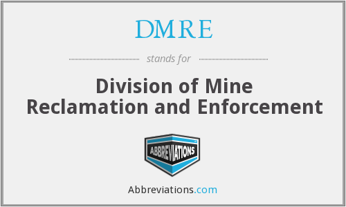 What does DMRE stand for?