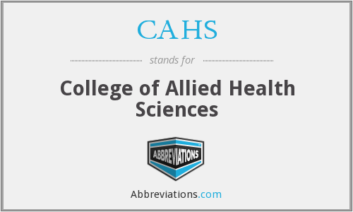 CAHS - College of Allied Health Sciences