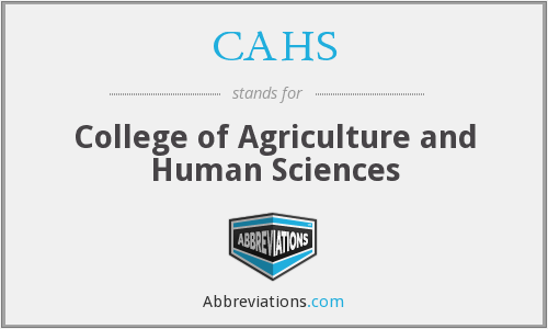 CAHS - College of Agriculture and Human Sciences